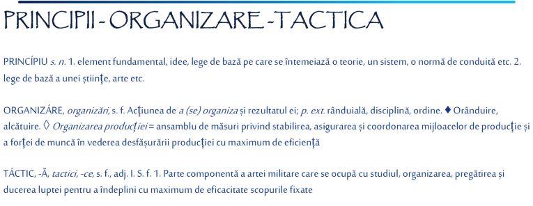 Organizare tactica - Principii ofensive 1